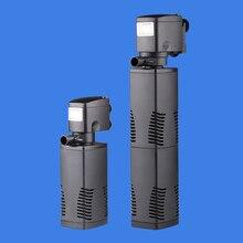 sunsun 220V Aquarium filters triple built-in filters versatile submersible pump fish tank aerator 8W-35W