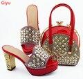 Doershow/Красивый комплект из обуви и сумки в африканском стиле  комплект из обуви и сумки в итальянском стиле  украшенный стразами  высокое кач...