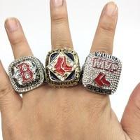 Free Shipping 2004 2007 2013 Boston Red Sox World Championship Ring Set Drop Shipping Size 11