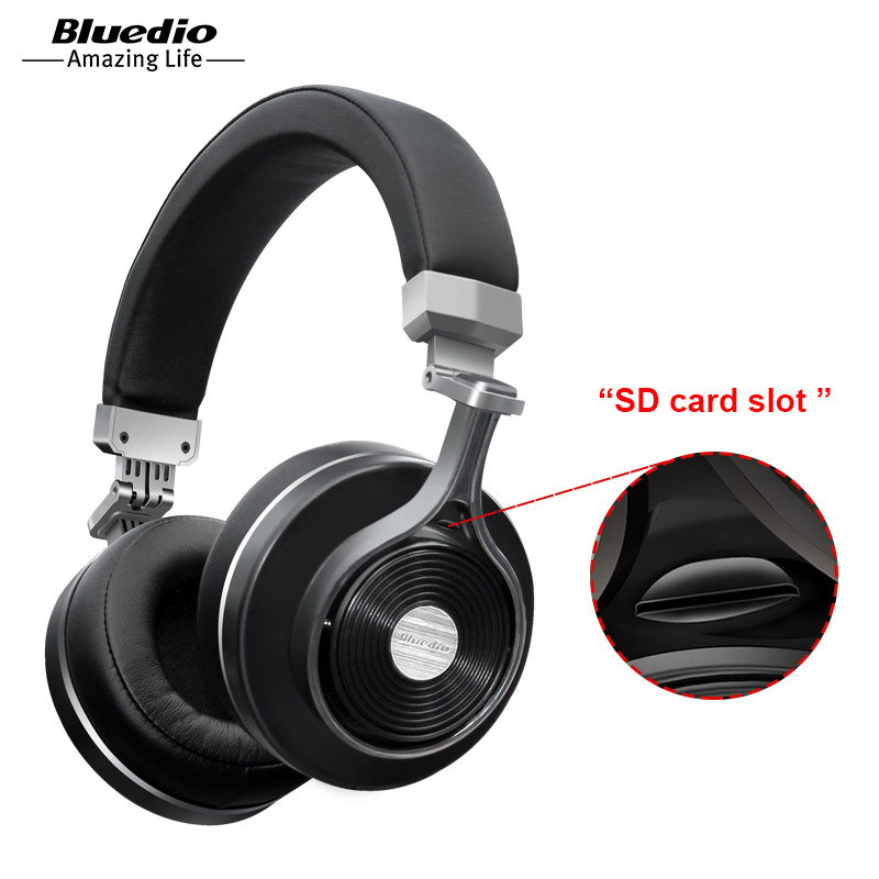 T3 Plus T3+ Wired and Wireless Bluetooth Headphones/Headset With Microphone/Micro SD Card Slot Bluetooth Earphone (Black Color) Наушники