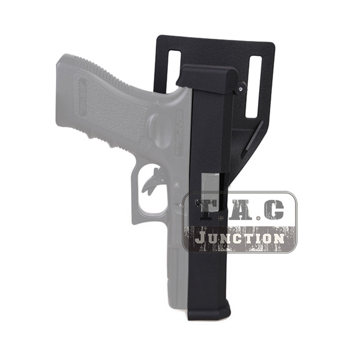 US $16 1 5% OFF|Tactical Holster IPSC USPSA Competition Quick Reload Pistol  Holster Black Automatic w/ Belt Loop for Glock 17 18 19 22 23-in Holsters