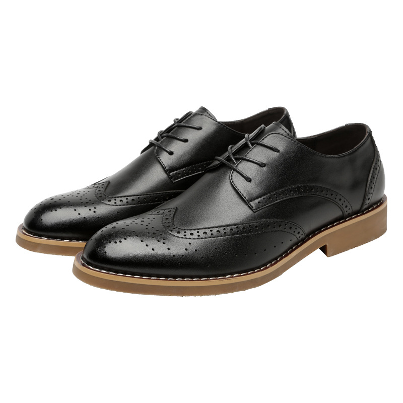 Genuine leather Pointed toe adults shoes Lace up solid Cool high quality men's dress shoes hot sales luxury classic shoes man