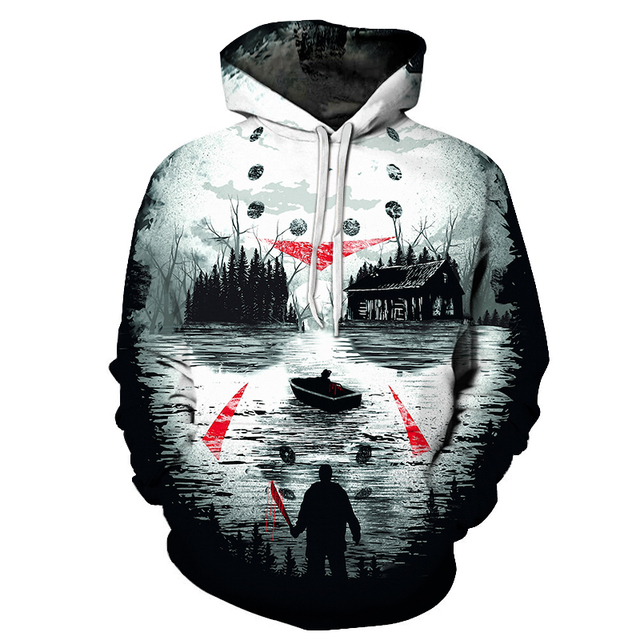 New 2019 Custom Unisex Sweatshirt 3D Skull Printed Pullovers Hoodies Dropship S-6XL 3