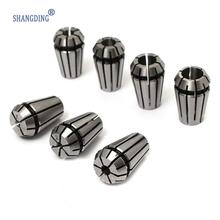 Best Price  7Pcs ER11 Spring Collet Set For CNC Workholding Engraving & Milling Lathe Tool 1-7mm Machine Accessories