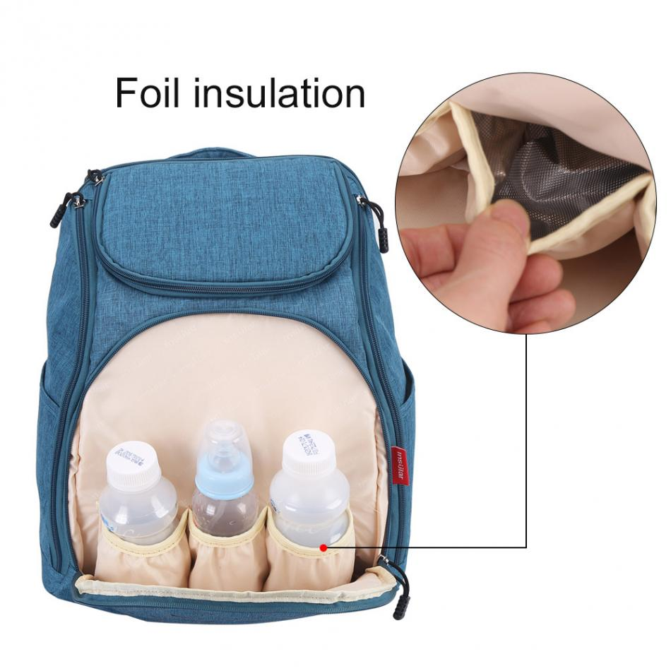 Bolsa de pañales de bebé de moda mamá bolsa de pañales de - Pañales y entrenamiento para ir al baño - foto 2