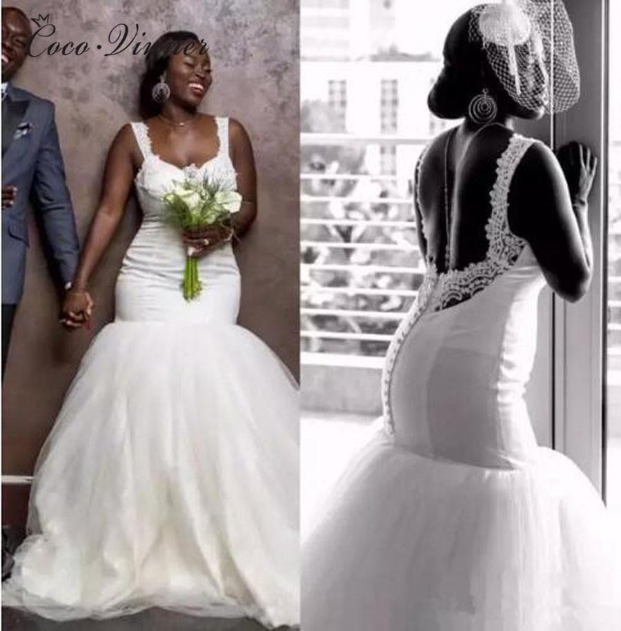 Tank Desing Simple Elegant Satin Mermaid Wedding Dress