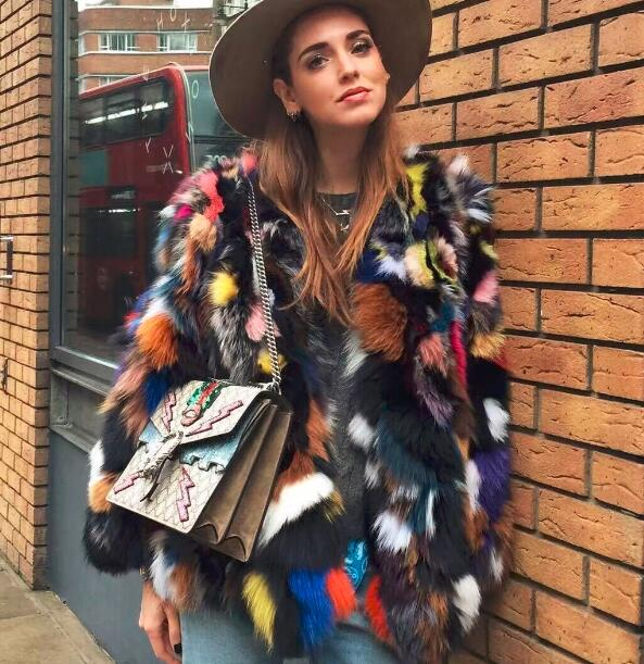 a7f33662d18 Italy French Style brand Natural Fur coats Fashion Fur jackets 2018 rainbow  Christmas fur coats outerwear Gorgeous fur jacket