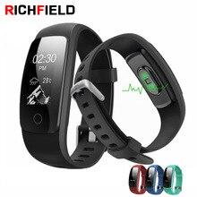 Купить с кэшбэком RICHFIELD smart watch bracelet Men Women id107 Plus HR GPS Heart Rate Pedometer Band activity Fitness Tracker For Android iphone