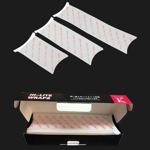 Outils de couleur de coiffure à usage recyclable et Durable pour Salon de coiffure papier de coloration de cheveux papier de teinture de cheveux de coiffeur 3 tailles chaque ensemble de 50pcs