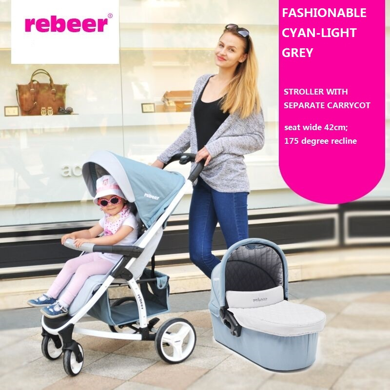 factory Deluxe America /European standard luxury baby stroller and carrycot,2 in 1,pushchair/pram