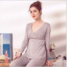 e259e24a5 Roupa de Maternidade Sleepwear Enfermagem Gravidez Pijama Amamentação  Aleitamento materno Maternidade Roupas Mãe Pijama Amamantar(