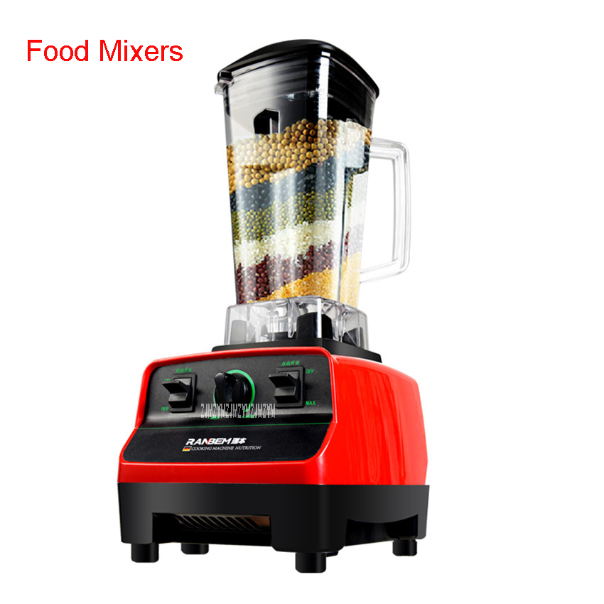 RBM-767 2200W Home automatic multi - functional fruit and vegetable ice sand bean milk mixer fried fruit juice broken machine 2L