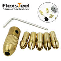 8pcs 0.5/1.0/1.5mm/2.5mm/3.0mm Small Electric Drill Bit Collet Micro Twist Drill Chuck Set with Allen Wrench