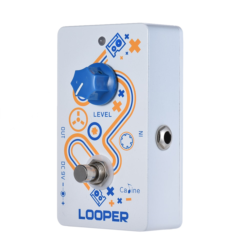Guitar Loop Pedal 10 Minutes Recording Time Unlimited Overdub with True Bypass Loop Time Tap Tempo FunctionGuitar Loop Pedal 10 Minutes Recording Time Unlimited Overdub with True Bypass Loop Time Tap Tempo Function