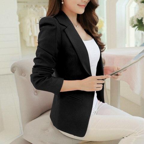 PEONFLY Ladies Blazer Long Sleeve Blaser Women Suit jacket Female Feminine Blazer Femme Pink Blue White Black Blazer Autumn Multan