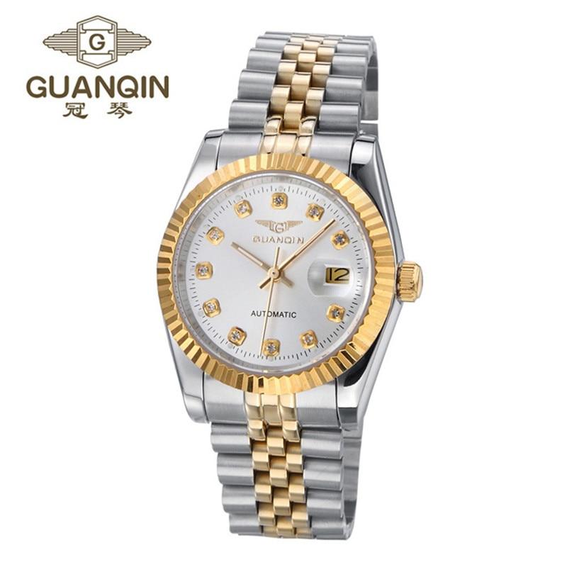 GUANQIN Men Watch Hollow Mechanical Watch Stainless Steel Business Men Luxury Watch Wristwatches for Men Relogio Masculino Reloj цена 2016