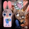 Para iphone 6 6 s/6 6 s más 5 5S zootopia judy conejo funda de silicona suave cubierta de la historieta 3d para samsung galaxy s7 edge s6 edge S5