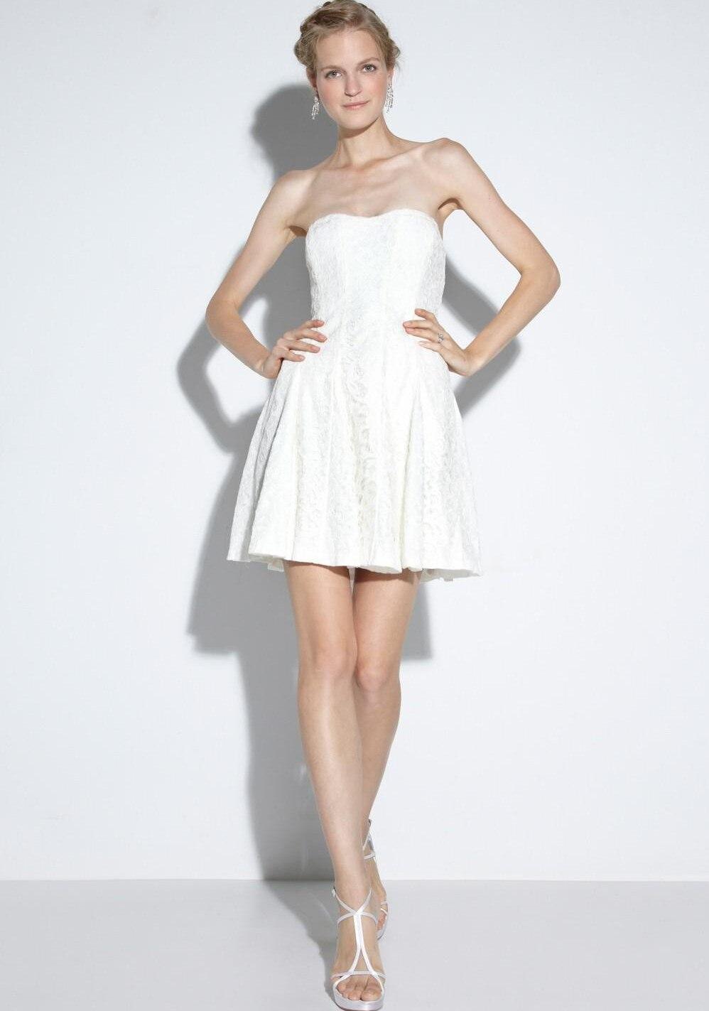 wedding dresses short cheap wedding dresses LAN TING BRIDE A line Wedding Dress Classic Timeless Chic Modern Vintage