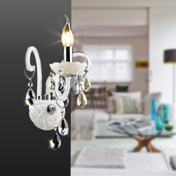 Luxury Wall Sconce Lighting European-style wall lights mirror front lamp bedside lamp crystal lamp Wall lamp bedroom free shipping outdoor brass wall lamp american design crystal wall sconce brass color wall lighting lamp wall brackets lights