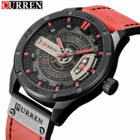 Curren 8301 Mens Watches Top Brand Luxury Military Sport Quartz Watch Men Waterproof Leather Casual Wristwatch Man Clock Relogio