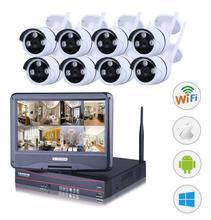 8CH NVR WIFI CCTV Security Camera System 8PCS720P HD Outdoor Wireless CCTV Kit Video Surveillance System P2P ONVIF