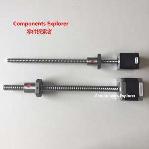 NEMA17 48mm two phase bipolar stepper motor Rolled 1204 Ball Screw Stepper Motor Linear Actuator 42bygh33 two phase 4 wire screw linear stepper motor drive screw length of 100