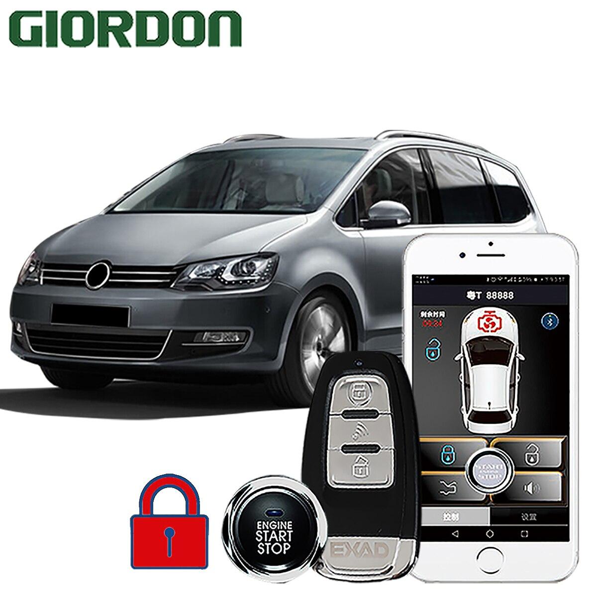 GIORDON SHARAN 2013  car accessories Keyless Entry Comfort System PKE Phone APP Remote Start Car Engine Car Alarm Push  913|Burglar Alarm| |  - title=