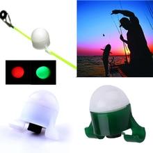Мини Портативный 2 в 1 Сияющий светящийся Удочка укуса сигнализации колокольчик клип снасти