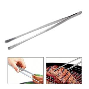 Tweezers Tongs Meat-Beef-Tong BBQ Stainless-Steel Serrated-Tips Extra-Long Basedidea