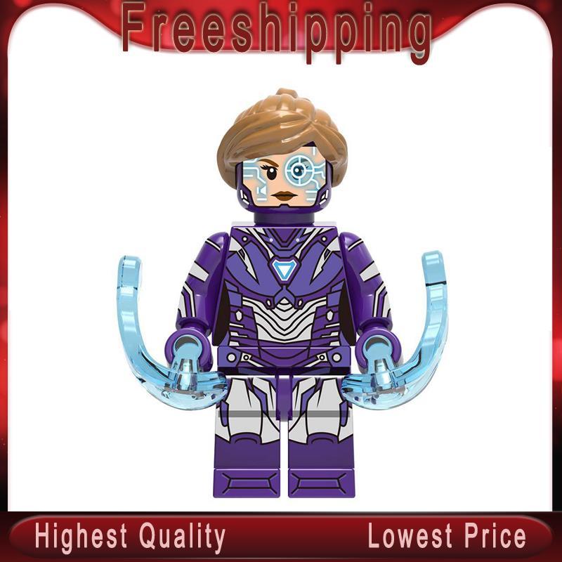 Building Blocks Super Heroes Captain Marvel Pepper Tony Stark Iron Man Stan Model Best Gift Toy For Children XH1128