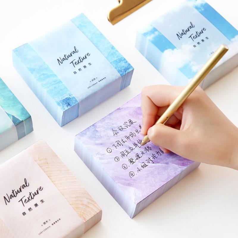 1 Pack New creative fresh Natural colours Sky blue crystal Sticky Notes Post It Bookmark Memo pad School Supply blue sky чаша северный олень