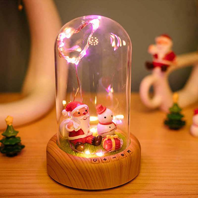 oobest Rechargeable Creative Home Decoration LED Night Light For Children Baby Kids Bedside Multi-use Bluetooth Loudspeaker creative home decoration ferris wheel shape led night light