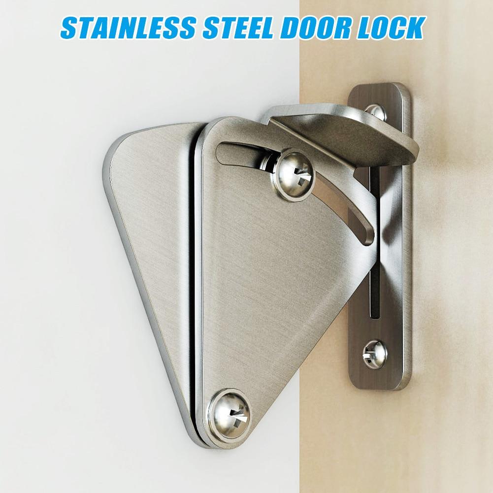 One Set Stainless Steel Lock for Sliding Barn Door Wood Latch Gate Doors Easy DIY MDJ998One Set Stainless Steel Lock for Sliding Barn Door Wood Latch Gate Doors Easy DIY MDJ998