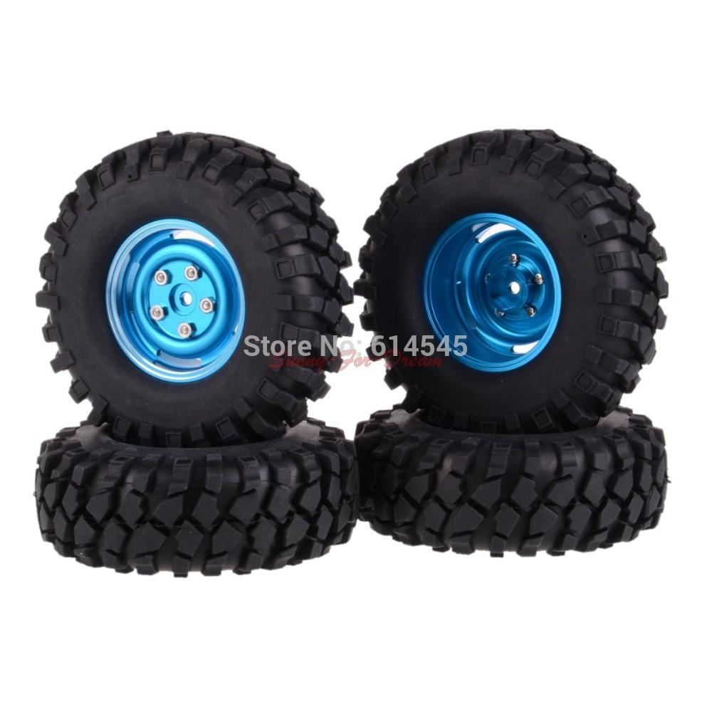 4PCS RC 1/10 Climbing Rock Crawler Metal Wheel Rim & 108 mm Tyre,Tires 104B-7032 4pcs 2 2 rubber tyre tires ax 3021 for rc 1 10 rc off road climbing rock crawler truck