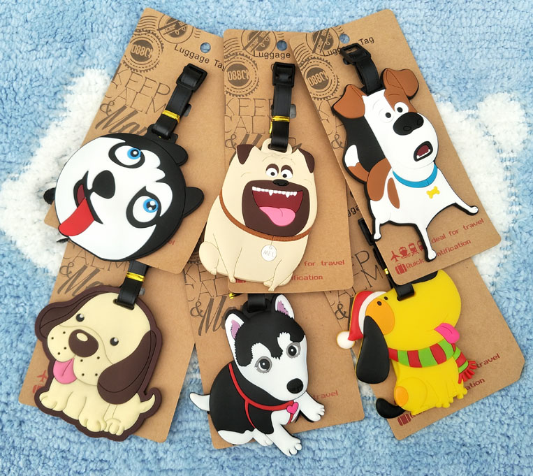 IVYYE Pekinges Dogs Anime Travel Accessories Luggage Tag Suitcase ID Address Portable Tags Holder Baggage Labels New