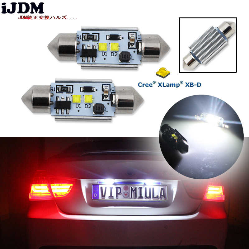 2 Pcs High Power Xenon Putih 10W 2 Cre'e XB-D Tidak Polaritas CANBUS C5W 36 Mm Memperhiasi Lampu LED lampu auto Interior Dome Lampu 12V