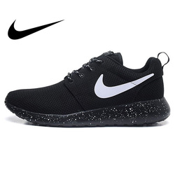 Original Authentic NIKE ROSHE RUN Men's Running Shoes Sport Outdoor Sneakers Low Top Mesh Breathable Brand Designer 511882-011