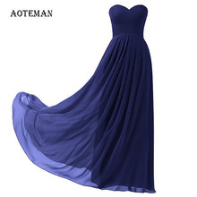 AOTEMAN Chiffon Summer Dress Women 2019 Sexy Strapless Long Party Dress Plus Size Wedding Bridesmaids Maxi Dresses Ukraine 10XL(China)