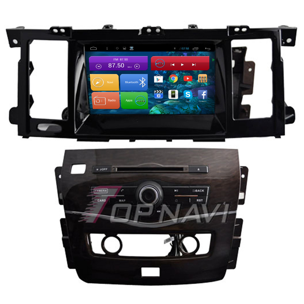 TOPNAVI 8 Quad Core Android 6.0 Car GPS Navigation for Nissan Patrol 2012 Autoradio Multimedia Audio Stereo,NO DVD