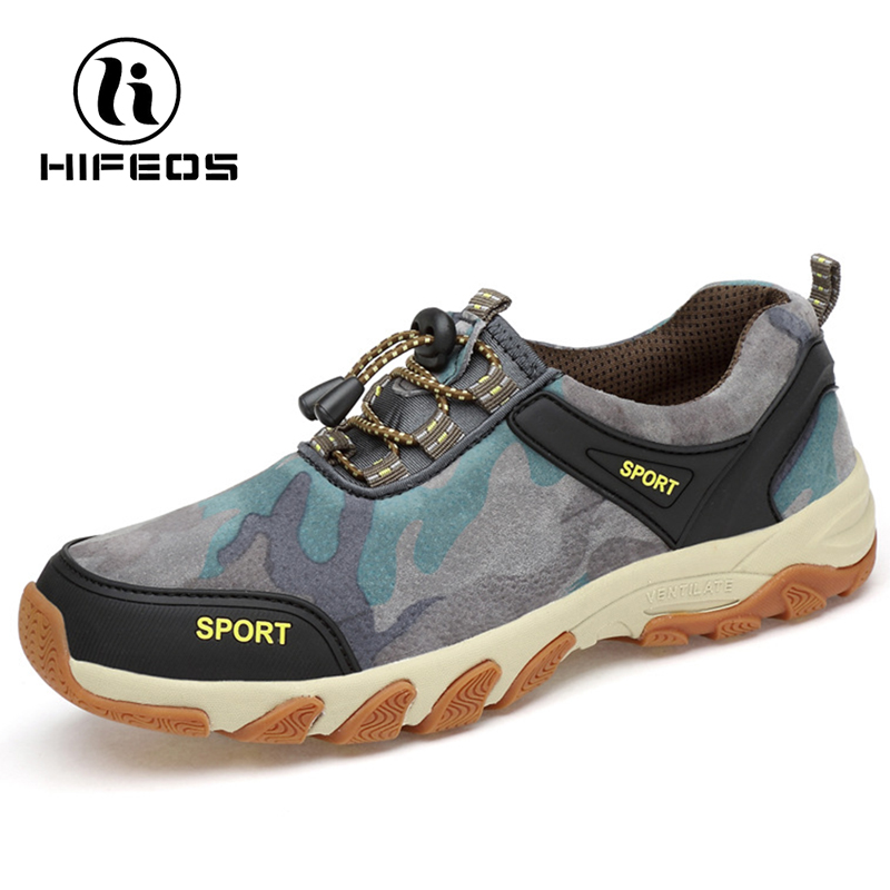 HIFEOS men hiking camouflage anti-slip shoes outdoor  comfortable sneakers  low-top walking Breathable anti-collision toe M039 peak sport men outdoor bas basketball shoes medium cut breathable comfortable revolve tech sneakers athletic training boots