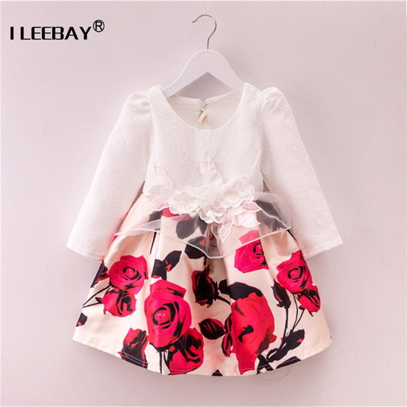 Toddler Girls Princess Dress Autumn Winter Kids Dresses For Girl Long Sleeve Party Frock Children Halloween Christmas Costume