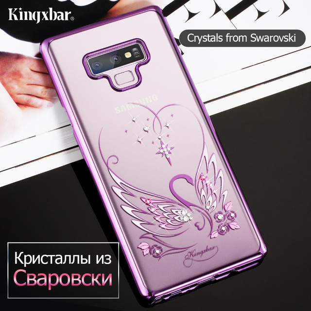buy popular 5d6e3 a58c2 US $25.99 |KINGXBAR for Samsung Galaxy Note 9 Case Crystal from Swarovski  Case for Samsung Galaxy Note 9 Cover Luxury Transparent Funda -in  Rhinestone ...