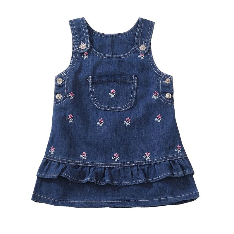 Vestido lindo del dril de algodón de la moda de los niños libres - Ropa de ninos