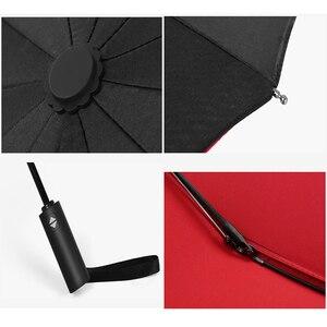 Image 5 - Otomatik Açık Yakın Şemsiye 12K Takviyeli Çift Kat Rüzgar Geçirmez Otomatik Katlanır Şemsiye Büyük Siyah Şemsiye Iş Için
