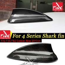 F32 F36 F82 Gloss Black Antenna Cover For 4-Series 420i 428i 430i 435i 440 Carbon Fiber Car Roof Shark Fin 2013-in