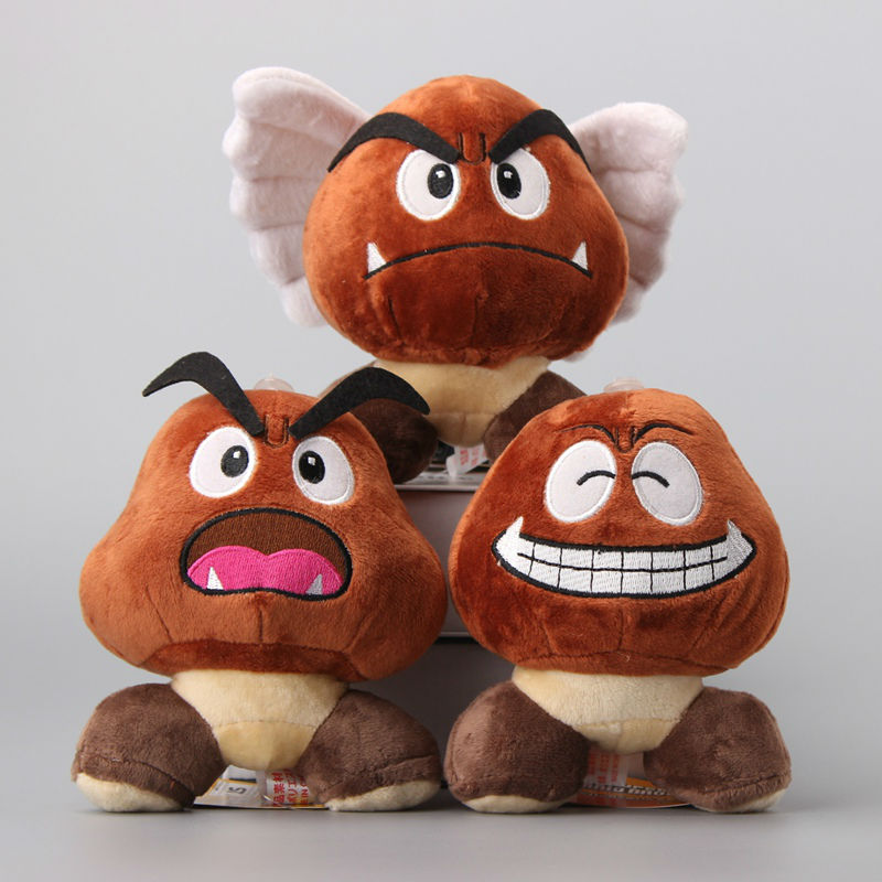 3 Styles Super Mario Poisonous Mushrooms Plush Toys Chestnut Aberdeen Cute Soft Dolls 6