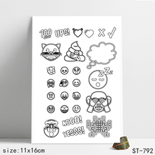 ZhuoAng Emoticon Stamp for DIY Scrapbooking/Photo Album Decorative Card Making Clear Stamps Supplies