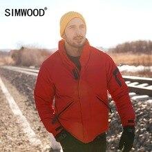SIMWOOD 2018 зима теплый пуховик для мужчин 90% серый пуховое пальто человек мода 2018 повседневное стенд воротник верхняя одежда плюс размеры 180292