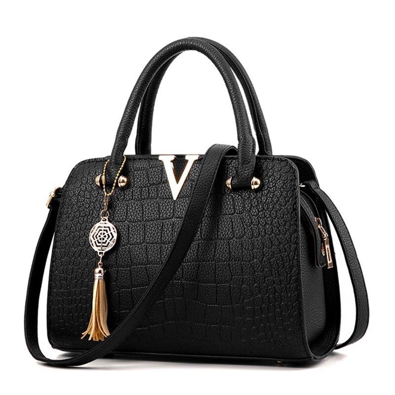 ФОТО Luxury Crocodile Leather Women Handbags Messenger Bag Fringed Shoulder Sac A Main Pouch Luxury Women Bags Designer Crossbody Bag