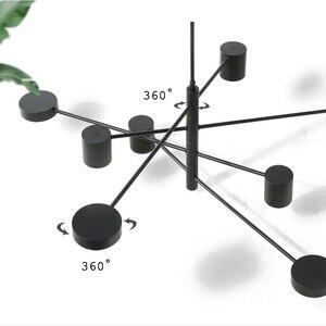 Image 4 - โมเดิร์นแฟชั่นสีดำสีขาวLedเพดานระงับโคมไฟระย้าโคมไฟสำหรับห้องโถงห้องครัวห้องนั่งเล่นLoftห้องนอน
